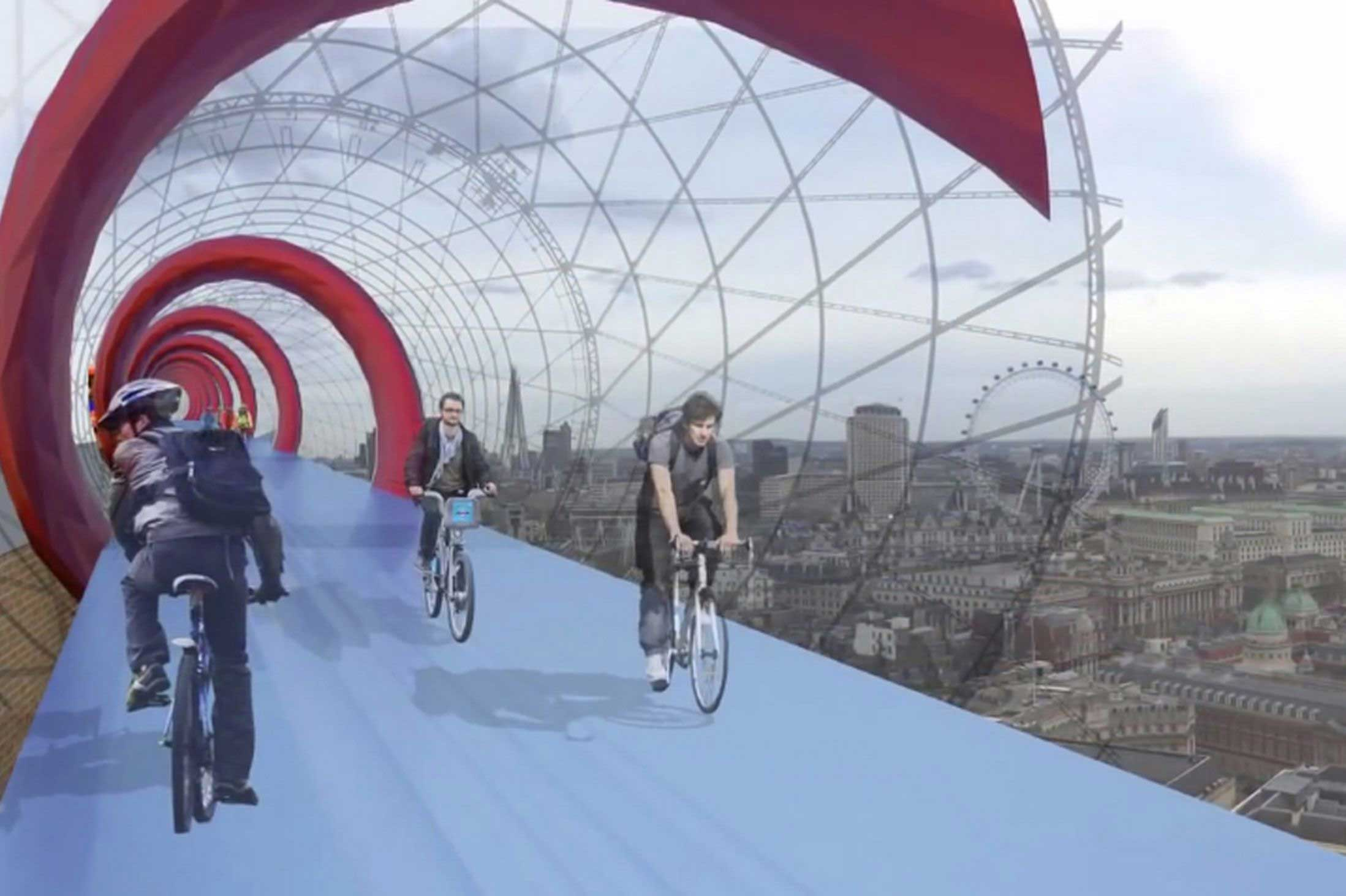 Skycycle-Network-Above-London-Streets